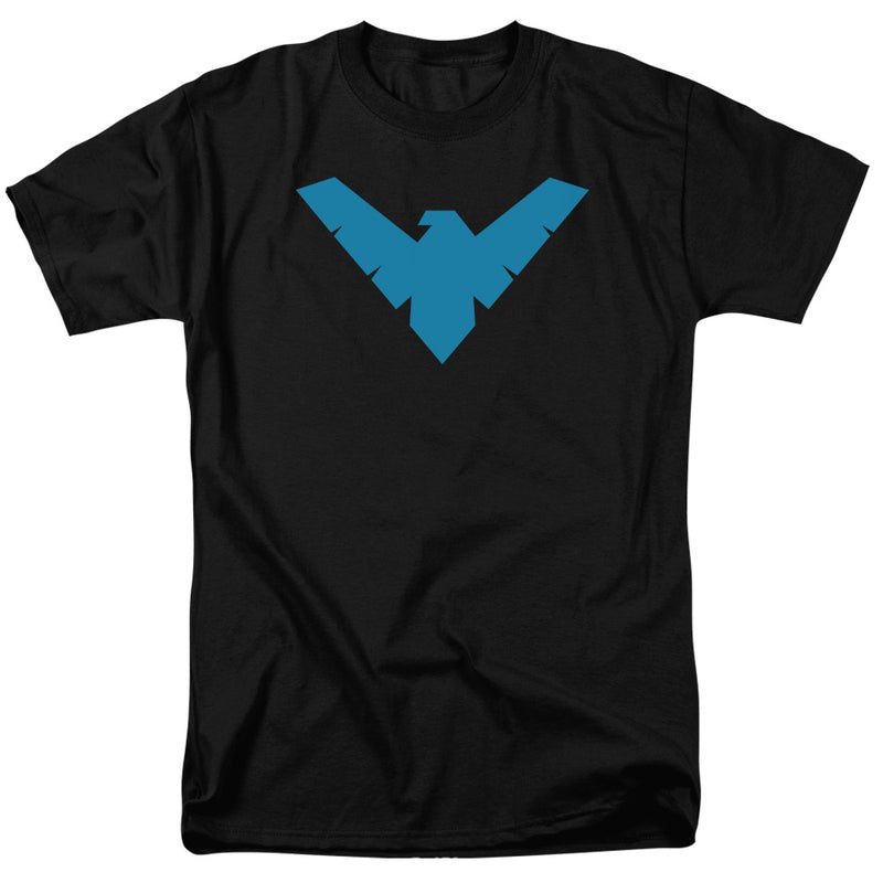 Batman Classic Nightwing Logo Adult Fitted T-Shirt - Kryptonite Character Store
