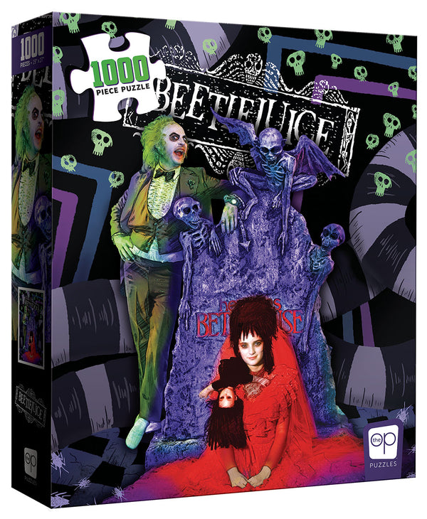 Bettlejuice Graveyard Wedding 1000pc Puzzle  - Kryptonite Character Store