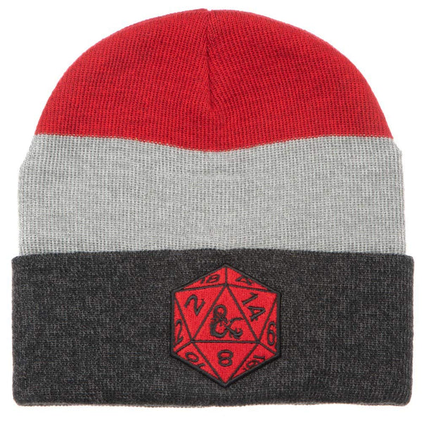 Bioworld Dungeons & Dragons Marled Stripe Beanie - Kryptonite Character Store