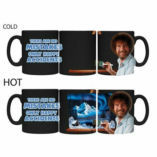 Bob Ross Color Changing Mug Happy Little Painting - Kryptonite Character Store