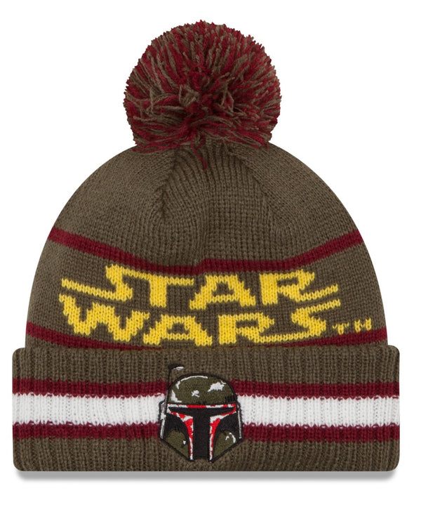 "Boba Fett Star Wars New Era ""Vintage Select"" Cuffed Knit Hat with Pom- Kryptonite Character Store"