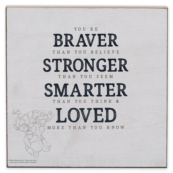 Braver Stronger Smarter Lover Winnie the Pooh Wall Decor - Kryptonite character Store -