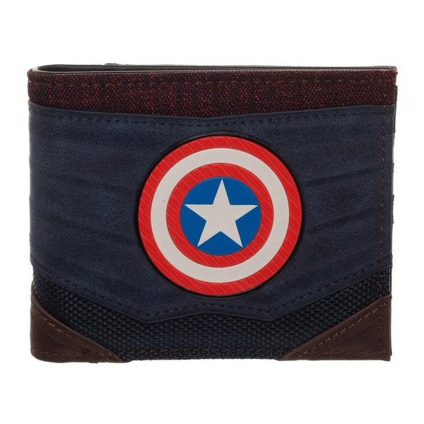 Captain America Chrome Weld Patch Bi-fold Wallet- Kryptonite Character Store