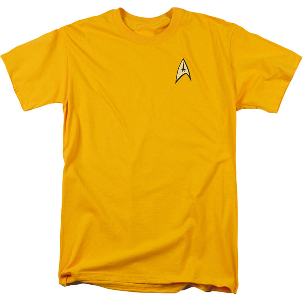 Star Trek Uniform Liquid Gold Ink Officially Licensed T Shirt - Kryptonite Character Store