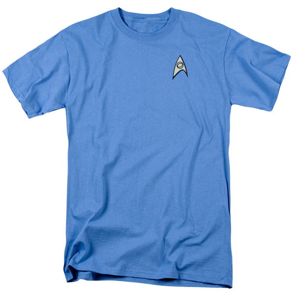 Star Trek TV Series Spock & McCoy Science Uniform Adult T-Shirt - Kryptonite Character Store