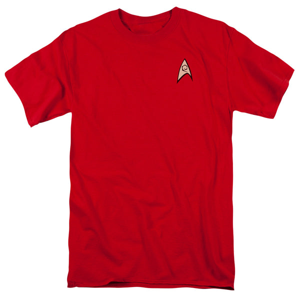 TV Series Star Trek Scotty Engineering Uniform Red Adult T-Shirt - Kryptonite Character Store