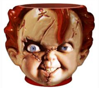 Chucky Face 3D Sculpted Ceramic Mug