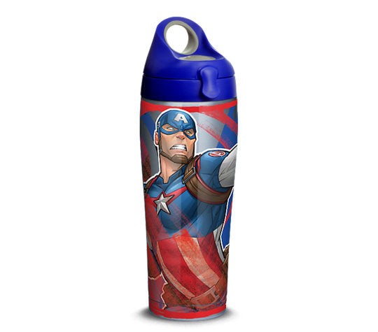 Captain America Iconic 24 Oz Metal Tumbler - Kryptonite Character Store
