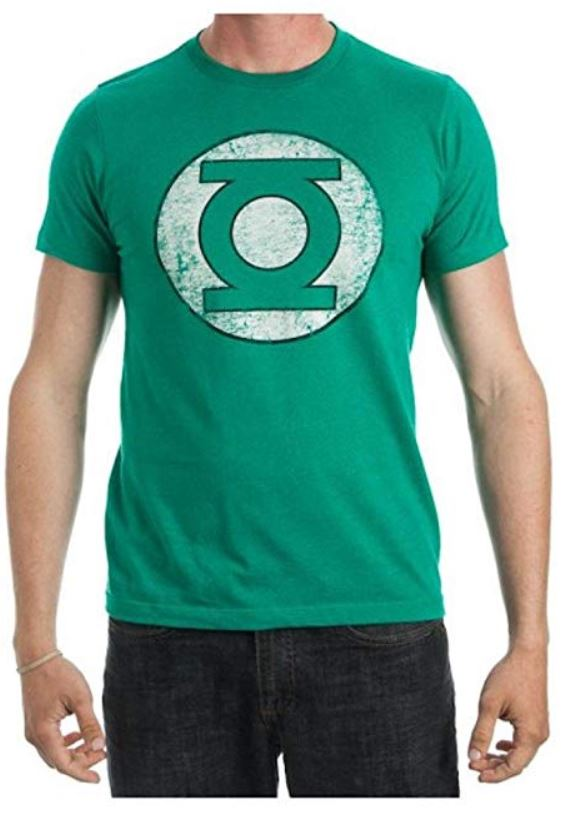 Green Lantern Faded Logo Men's Green T-Shirt