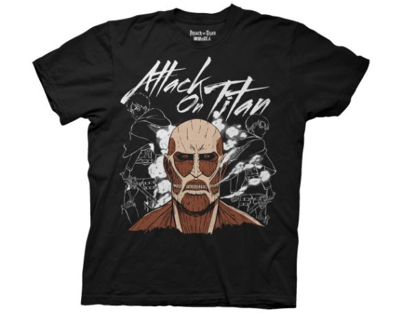 Attack on titan Dark Titan Group Black T-shirt