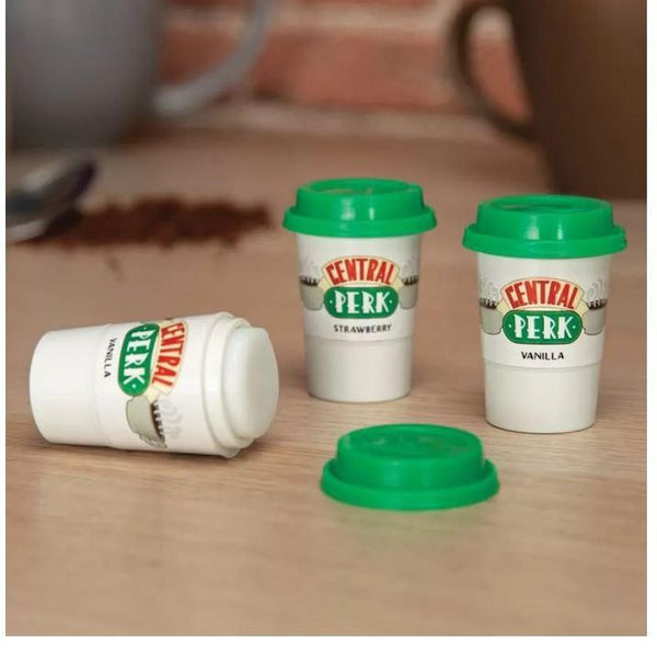 Friends Sitcom `Central Perk` Coffee Cup Novelty Lip Balm Set Of Three