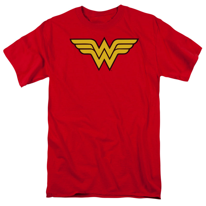 Trevco Wonder Woman Logo Adult Fitted T-Shirt