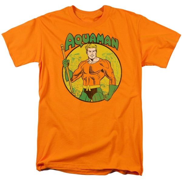 DC Comics Aquaman Pose Adult Fitted T-shirt - Kryptonite Character Store
