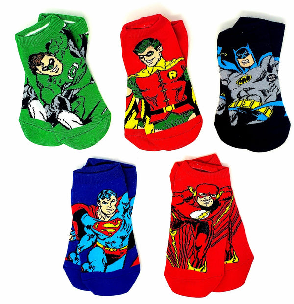 DC Comics Justice League Superhero Characters Ankle Socks - Kryptonite Character Store