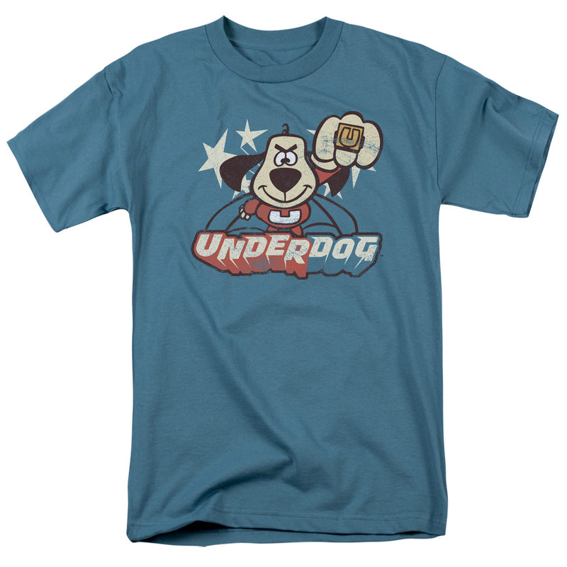 Trevco Underdog Flying Logo Adult Fitted T-Shirt - Kryptonite Character Store