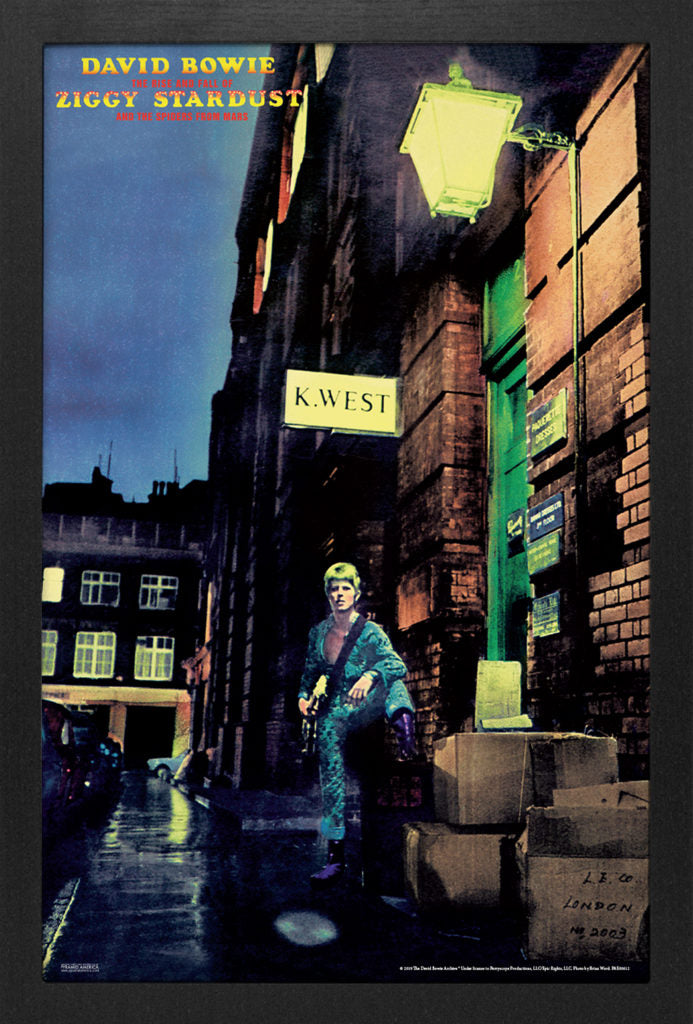 David Bowie - Ziggy Stadust  11x17 Print Framed - Kryptonite Character Store