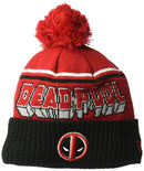 Deadpool Jumbo Cheer Pom Knit Beanie Hat- Kryptonite Character Store
