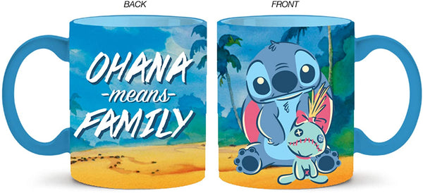 Disney Lilo and Stitch Ohana Means Family 14 Oz Ceramic Mug - Kryptonite Character Store