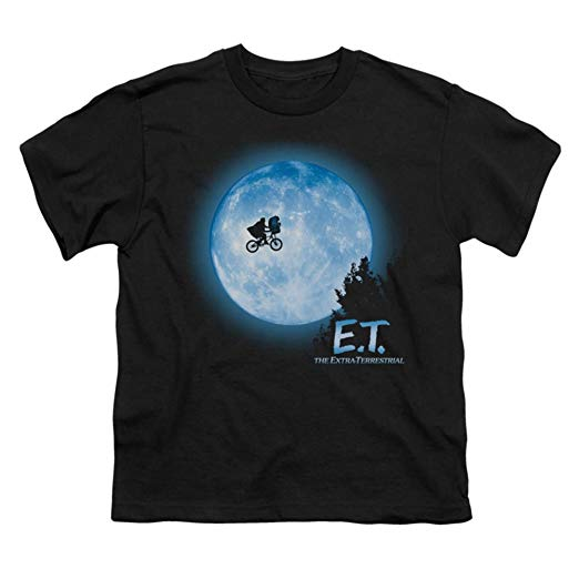 E.T. Movie Moon Scene Short Sleeve Adult T-Shirt - Kryptonite Character Store