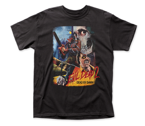 Evil Dead Ii-- Thai Poster Apparel T-Shirt - Black - Kryptonite Character Store
