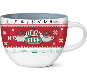 Friends Central Perk Holiday Sweater 24 Oz Ceramic Soup Mug-  Kryptonite Character Store