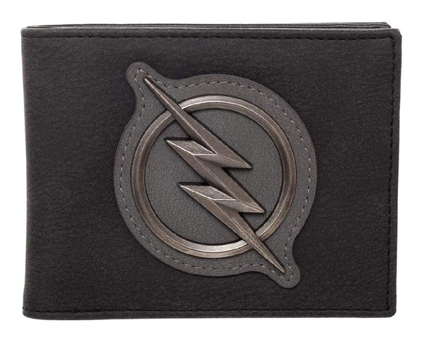 The Flash Logo Distressed PU Bifold Wallet - Kryptonite Character Store