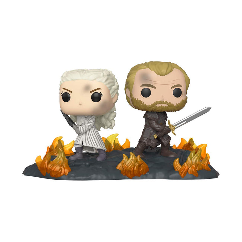 POP Movie Moment: Game of Thrones - Daenerys and Jorah with Swords- Kryptonite Character Store