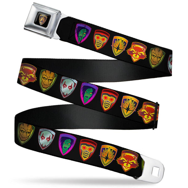 Guardians of the Galaxy Badge/5-Character Icons Seatbelt Buckles Belt - Kryptonite Character Store