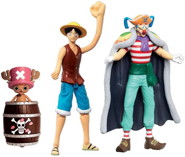 One Piece Action Figures Set (Buggy, Chopper & Luffy)