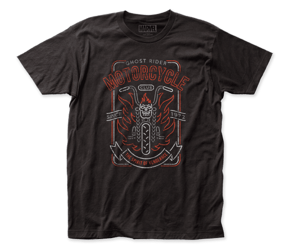 Ghost Rider – Motorcycle Club T-Shirt - Kryptonite Character Store