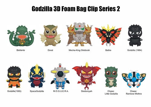 3D Figural Foam Bag Clip Godzilla Series 2 Mystery Box - Kryptonite Character Store