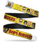 Bob's Burgers Belcher Family Group Full Color Black/Yellow Seatbelt Buckle Belt - Kryptonite Character Store
