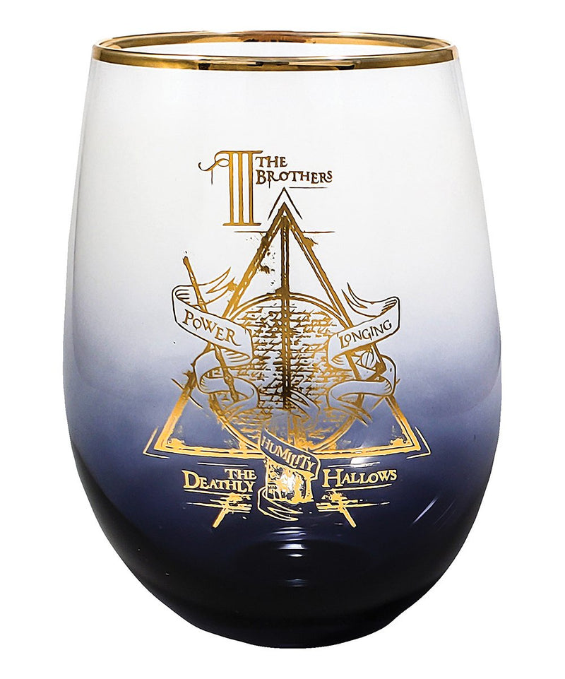 Harry Potter and the Deathly Hollows Stemless Wineglass - Kryptonite Character Store