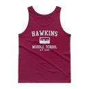 Clearance Stranger Things Hawkins Middle School AV Club Tank Top - Kryptonite Character Store