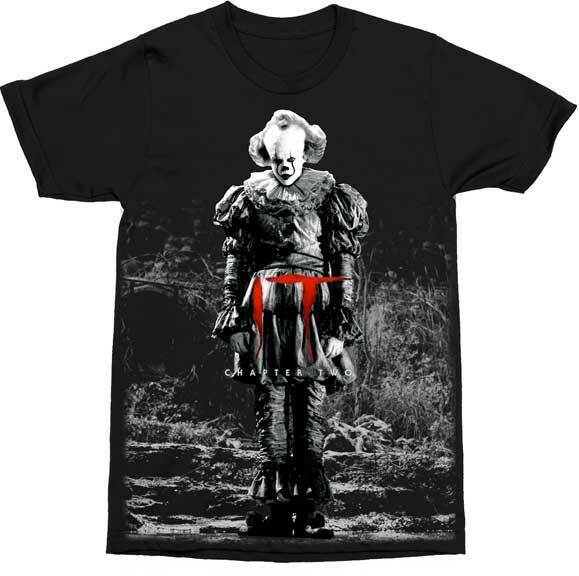 IT Pennywise Standing Chapter Two Clown Stephen King Horror Movie T Shirt