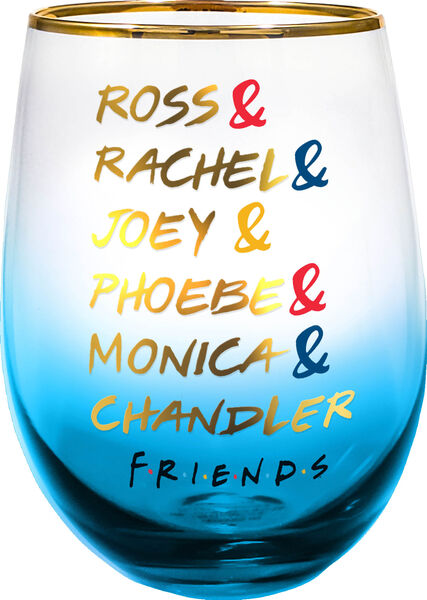 Friends Character Names Stemless Wine Glass