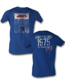 Jaws - Movie Classic Adult Fitted Jersey T-shirt - Kryptonite Character Store