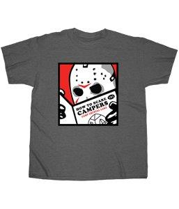 Friday the 13th- Jason - How to Scare to Campers T-shirt - Kryptonite Character Store
