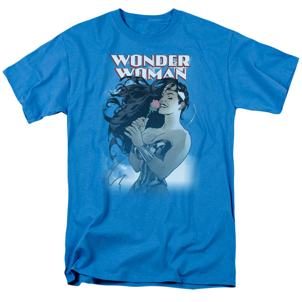Wonder Woman Rose Blue T-shirt - Kryptonite Character Store