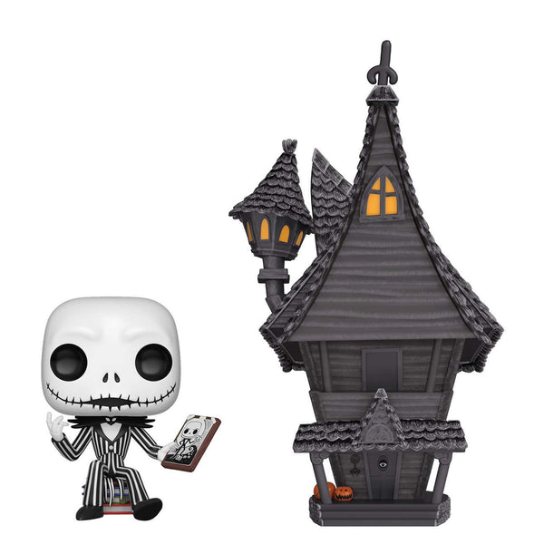 Pop Town: Nightmare Before Christmas - Jack Skellington with Jack's House - Kryptonite Character Store