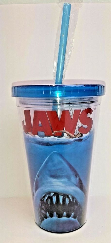 Jaws The Movie 16 oz Travel Tumbler Cup Reusable Freezer Ice Cubes