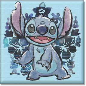 Disney Lilo & Stitch Pencil Inkblot 12in x 12in Canvas Wall Art