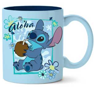 Stitch Aloha Coconut Frame 14oz. Ceramic Mug - Kryptonite Character Store