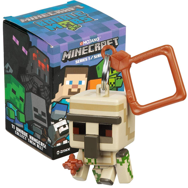 Minecraft Bobble Mobs Key Chain Blind Box (One Mystery Figure), Series 3 Collectible- Kryptonite Character Store