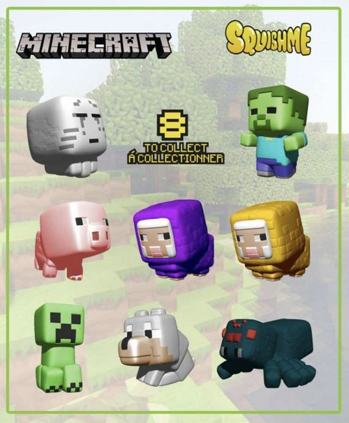 Minecraft Squishme Blind Bag Series 1 Stress Relief Figure