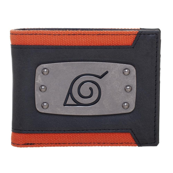 Naruto Leaf Badge Bi-fold Wallet - Kryptonite Character Store
