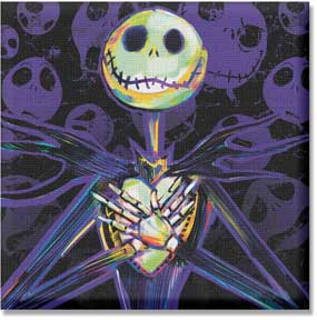 Nightmare Before Christmas Jack Crossed Hands Over Heart 12in x 12 in Canvas Wall Art