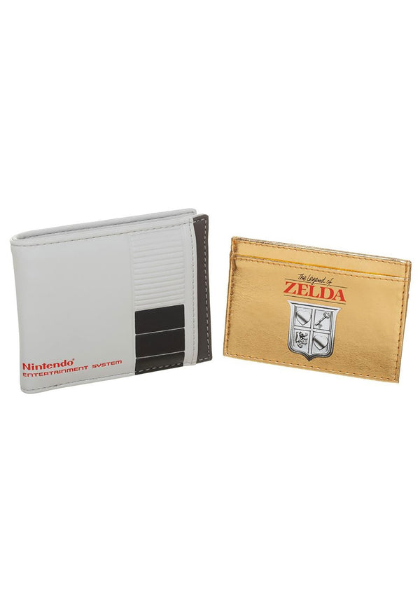 Nintendo 2 in 1 Bifold Wallet with Legend of Zelda Game Cartridge Card Holder- Kryptonite Character Store