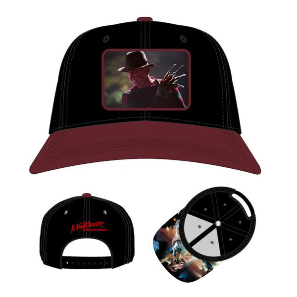 Nightmare On Elm Street Sublimated Patch Pre-Curved Snapback - Kryptonite Character Store