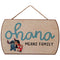 Ohana Means Family Lilo & Stitch Hanging Wood Wall Décor
